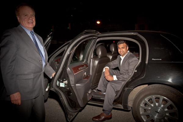 Aniq Rahman in car