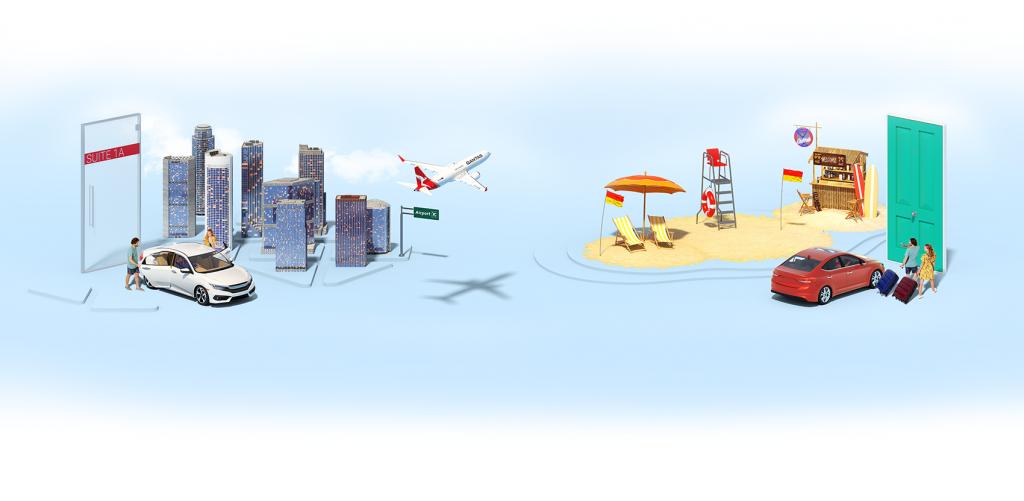 Uber and Qantas airport trips