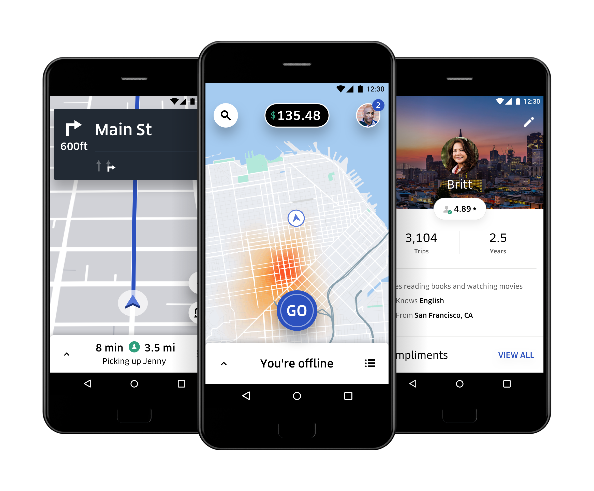 Image result for Uber like Layout of the App
