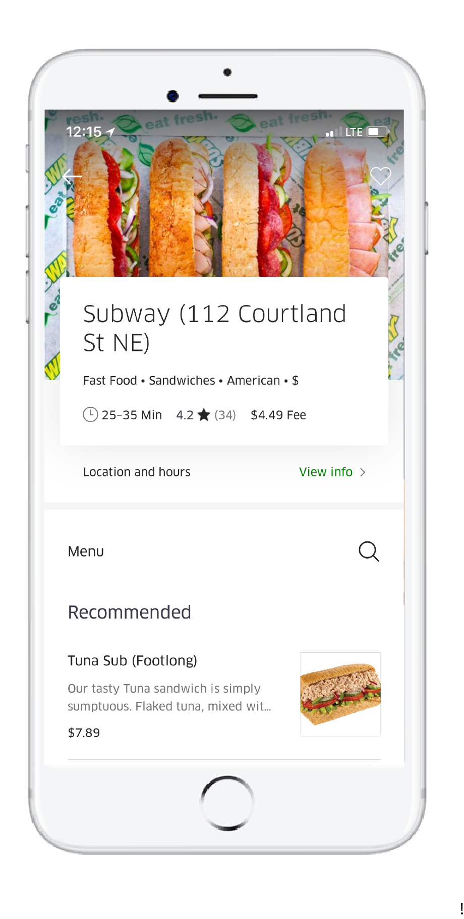 Uber Eats Delivers Subway® Sandwiches, Salads and More To Your Door