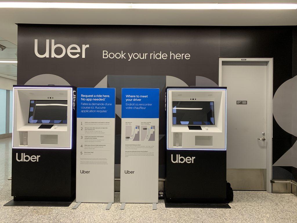 Uber's kiosk pilot at Toronto Pearson airport