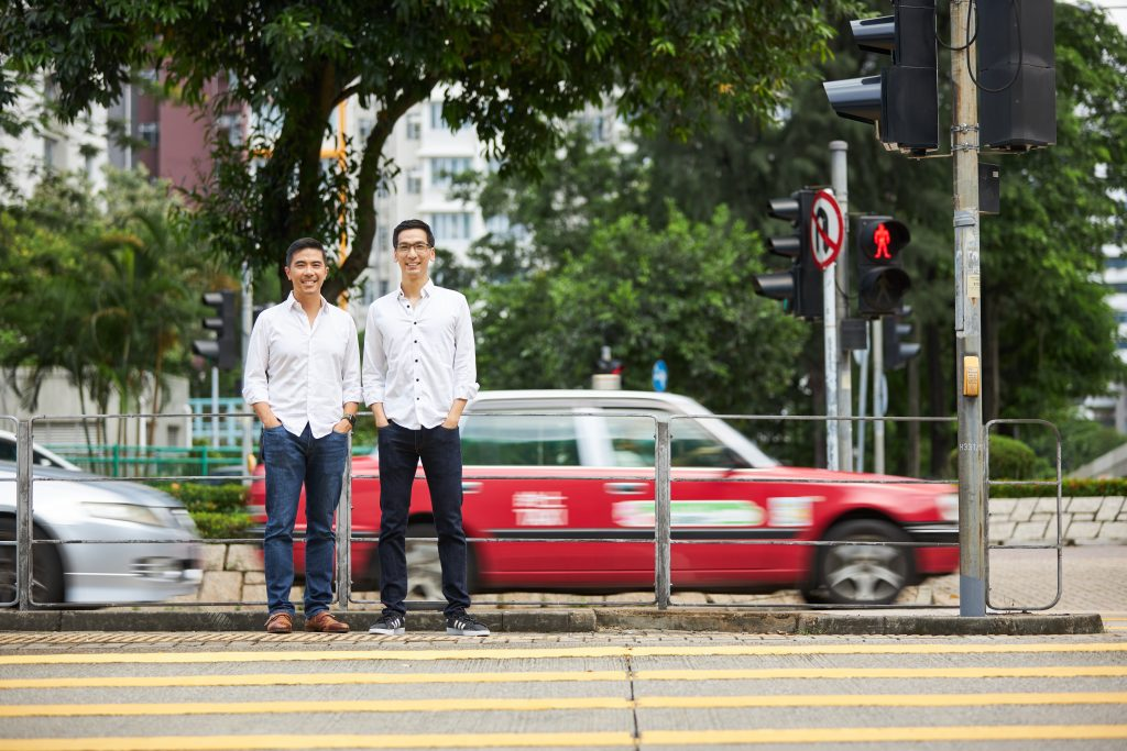 From left to right: Estyn Chung (General Manager of Uber Hong Kong) and Kay Lui (Co-founder of HKTaxi)