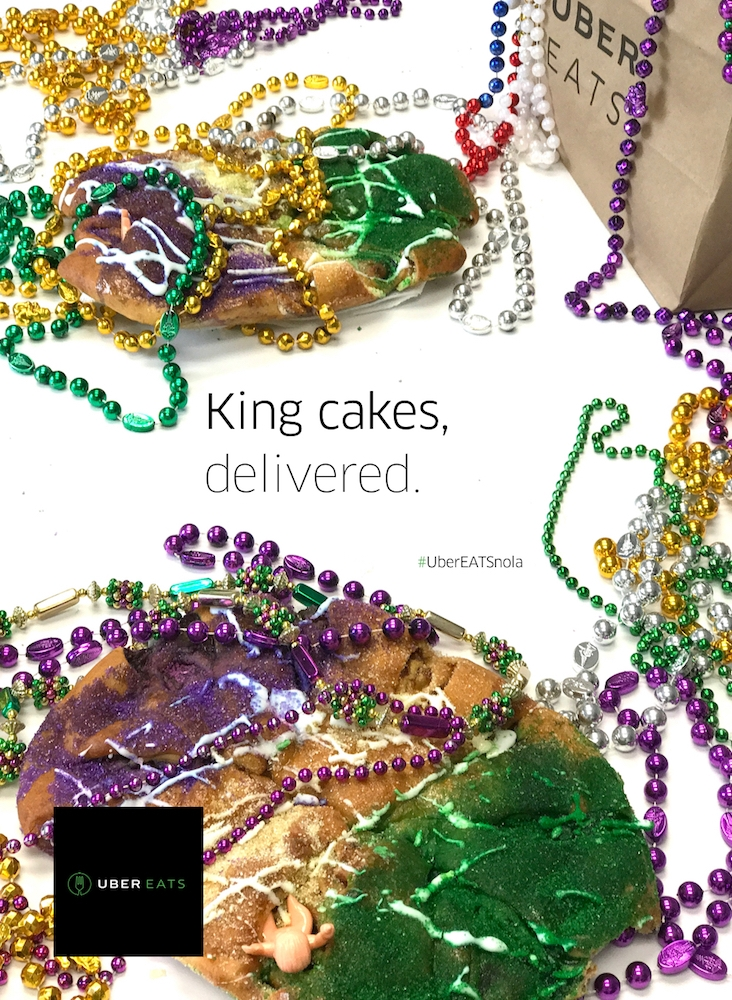 King Cakes Delivered With UberEATS