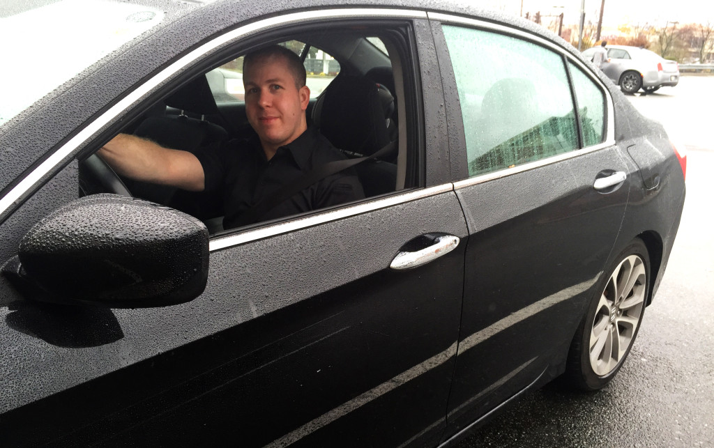 Andrew Shedden in Car