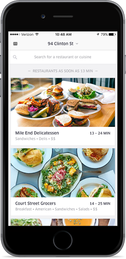 ubereats food delivery app download