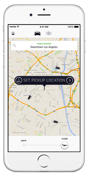 Uber LA Uberplane Luxlife Iphone6 Screenshot Email Image 300x602 R1