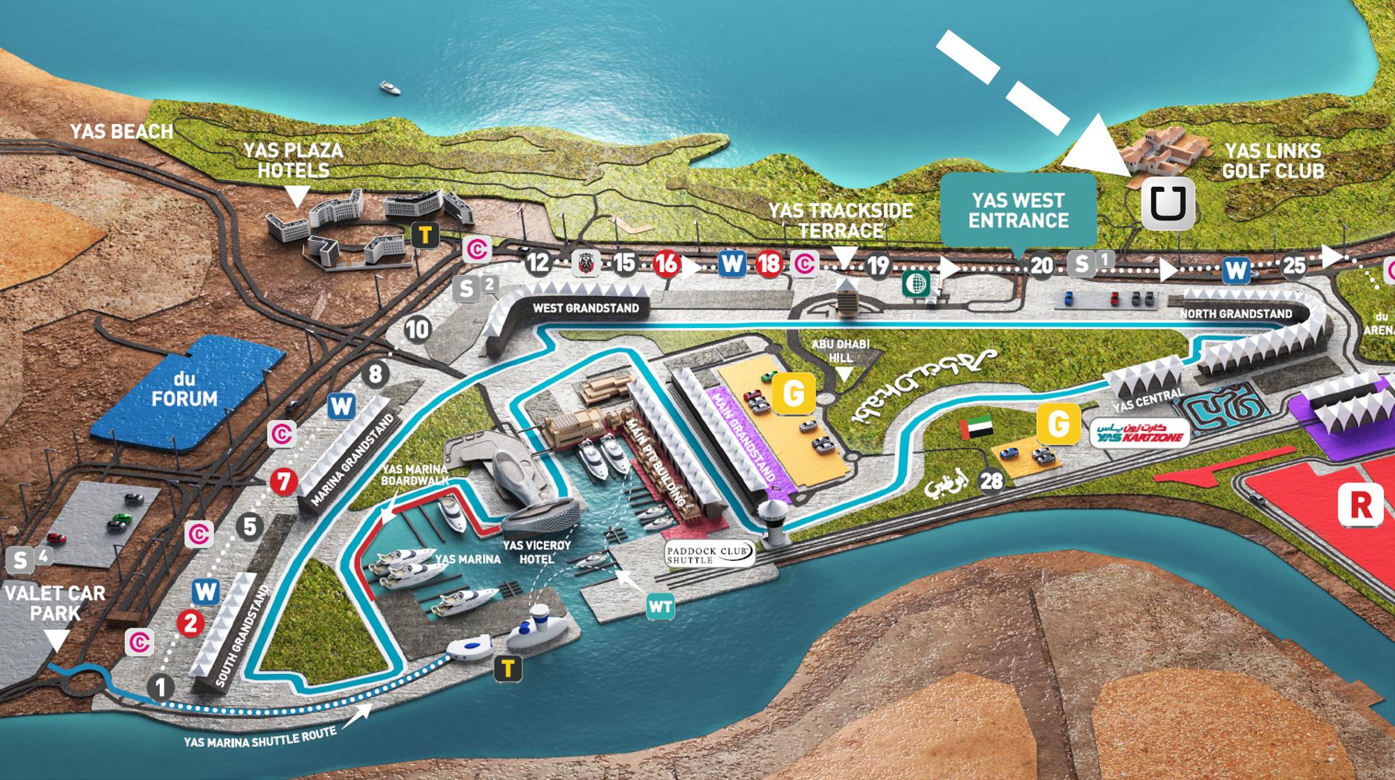 Start Your Engines Abu Dhabi Grand Prixs Right Around The Corner - Bus map abu dhabi